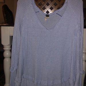 Free people light blue sweater